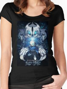 Bad Time - Sans Women's Fitted Scoop T-Shirt