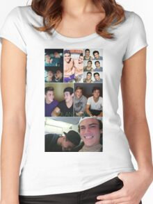 Dolan twins collage 4  Women's Fitted Scoop T-Shirt