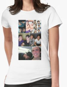 Dolan twins collage 4  Womens Fitted T-Shirt