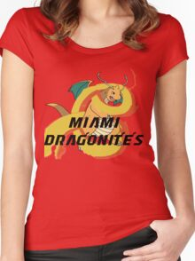 Miami Dragonites Women's Fitted Scoop T-Shirt