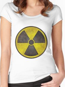 Radioactive Fallout Symbol Women's Fitted Scoop T-Shirt