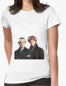 BBC Sherlock- Sherlock and John Flower Crowns  Womens Fitted T-Shirt