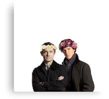 BBC Sherlock- Sherlock and John Flower Crowns  Canvas Print