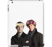 BBC Sherlock- Sherlock and John Flower Crowns  iPad Case/Skin