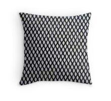 Black and Light Blue Geometric Pattern Throw Pillow