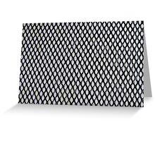Black and Light Blue Geometric Pattern Greeting Card