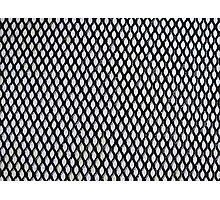 Black and Light Blue Geometric Pattern Photographic Print