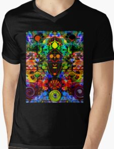 SHAMADELIC 3 Mens V-Neck T-Shirt