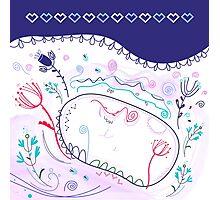 "Beautiful Original Art Creation ( Lake Hand Drawing ) - ""Nature making Love"" Photographic Print"