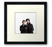 BBC Sherlock- John And Sherlock Framed Print