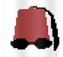 Pixel Familiar Fez Poster