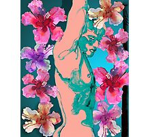 Hibiscus Fantasy Young Man Photographic Print