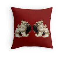 Chinthe The guardian Throw Pillow