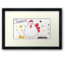 Chikens Framed Print