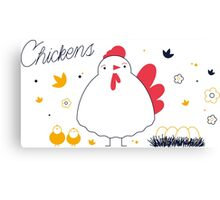 Chikens Canvas Print