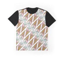 Ice Cream Cone Melting Graphic T-Shirt