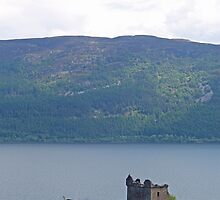 Nessie at Glen Urquhart Castle! by Sandy Sutherland
