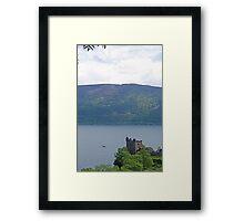 Nessie at Glen Urquhart Castle! Framed Print