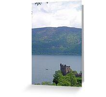 Nessie at Glen Urquhart Castle! Greeting Card