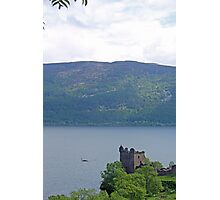Nessie at Glen Urquhart Castle! Photographic Print