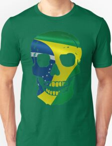 SKULL BRAZILIAN FLAG T-Shirt