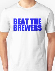 Chicago Cubs - BEAT THE BREWERS - Blue text T-Shirt