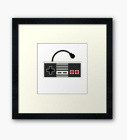 NES Controller - Retro Framed Print