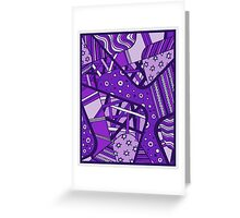 Miniature Aussie Tangle 12  in Purple Greeting Card