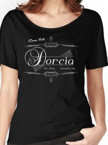 Come Visit Dorcia - Dark Women's Relaxed Fit T-Shirt