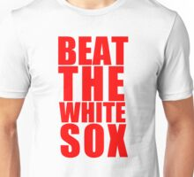 Chicago Cubs - BEAT THE WHITE SOX - Red Text Unisex T-Shirt