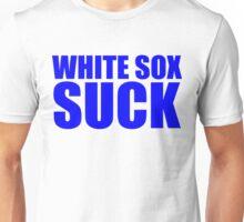 Chicago Cubs - WHITE SOX SUCK - Blue text Unisex T-Shirt