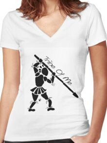 """""""Tribe Of Me"""" Artwork by Carter L. Shepard""""  Women's Fitted V-Neck T-Shirt"""