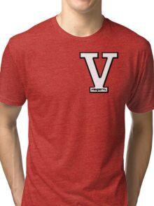 Vendetta Letterman (for zip hoodie) Tri-blend T-Shirt