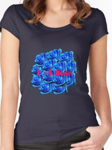 I <3 Blue  Women's Fitted Scoop T-Shirt