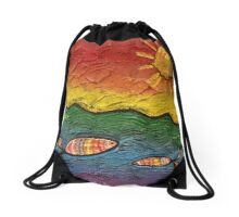 Rainbow Fish Drawstring Bag