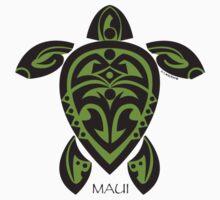 Black & Green Tribal Turtle Tattoo / Maui Kids Clothes