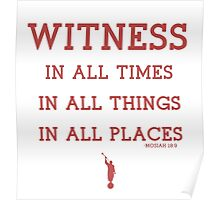 WITNESS OF GOD (maroon) Poster