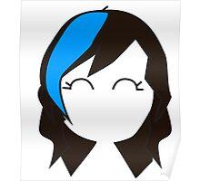 Blue Streak Hair Poster