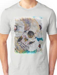 Skull with White Poppies Unisex T-Shirt