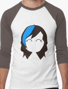 Blue Streak Hair Men's Baseball ¾ T-Shirt