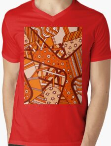 Miniature Aussie Tangle 12 Autumn Red Variation Mens V-Neck T-Shirt