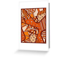 Miniature Aussie Tangle 12 Autumn Red Variation Greeting Card
