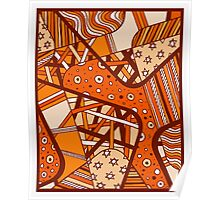 Miniature Aussie Tangle 12 Autumn Red Variation Poster