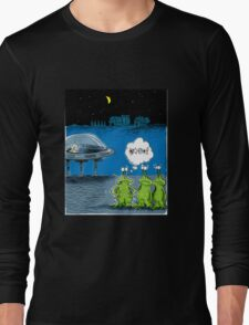 Aliens Lose their Keys in Roswell, NM and stranded Long Sleeve T-Shirt