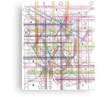 Linear Thoughts Metal Print