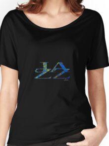 JAZZ Letter Art Women's Relaxed Fit T-Shirt