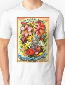 """FLORAL SEED"" Advertising Vintage 1898 Print Unisex T-Shirt"