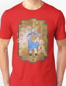 Woman Playing the Accordion Unisex T-Shirt