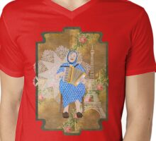 Woman Playing the Accordion Mens V-Neck T-Shirt
