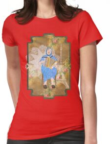 Woman Playing the Accordion Womens Fitted T-Shirt